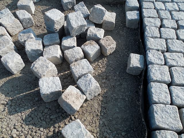 The natural stone paving cost is higher than for cast blocks.